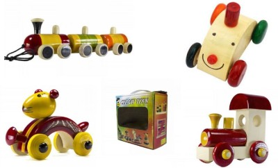 CeeJay Set of 4 Colorful Wooden Baby Toys:Model OW-OW004