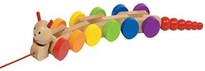 Goki Wooden Nila Caterpillar Pull-Along 16