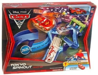 Mattel Cars 2 Tokyo Spinout Track Set