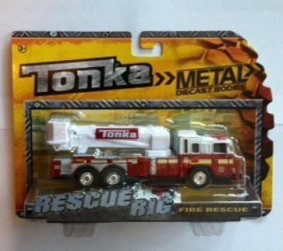 Tonka Rescue Rig Fire Rescue (Red Truck With White Ladder)