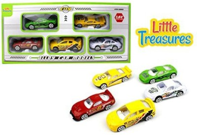 Little Treasures Alloy Car Models Set Of 5 Sleek Vehicles
