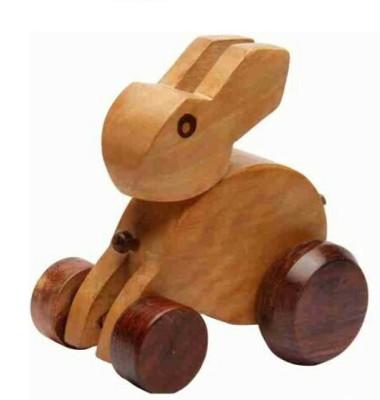 Univ Handcarved Wooden Rabit Toy