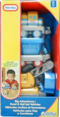 Little Tikes Big Adventures Road & Rail Set Vehicles