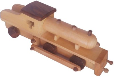 Onlineshoppee Wooden Toy Engine(Brown)