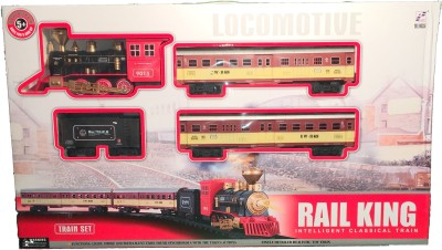 RailKing Traditional Engine Double Passenger Carrier