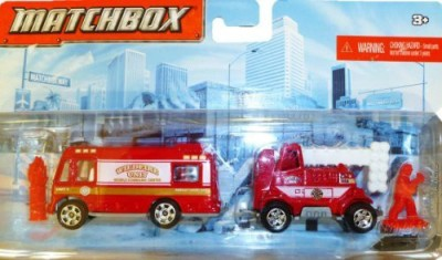 Mattel Matchbox Hitch N, Haul Flame Tamers (Wildfire Unit Mobile