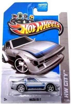 Mattel Hot Wheels 2013 Regular Treasure Hunt Mazda Rx7 Silver