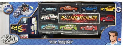 Hamleys TRUCK TRANSPORTER WITH 10 CARS