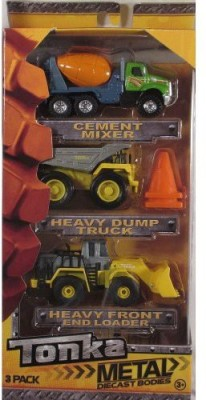Funrise Tonka Metal Diecast Bodies 3 Pack Cement Mixerheavy Dump