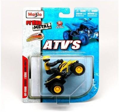 Maisto Maisto Atv,S Fresh Metal Pull-Back Motor Die-Cast Vehicle-Yellow