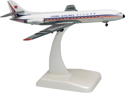 Hogan Wings Aircraft scale model, Caravelle China Airlines, Scale 1:200 (with Stand & gear)