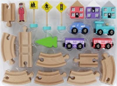 Hamleys Figure of 8 Train & Track Set - Wooden