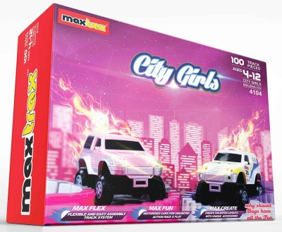 Maxtrax City Girls - 100 Track Pieces