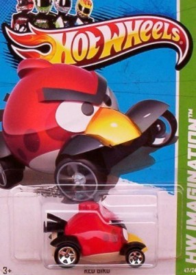 Mattel 2012 Hot Wheels Hw Imagination Angry Birds Red Bird
