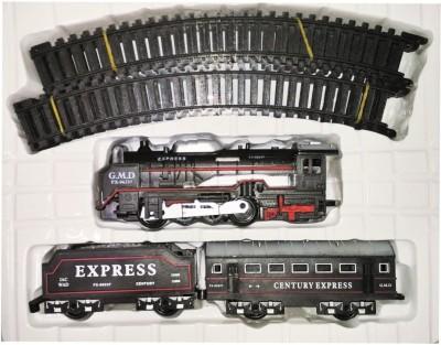 Khareedi Fast Battery Operated Train Set With Head Light(Black)(Black)