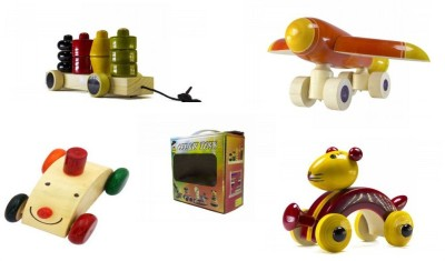 CeeJay Set of 4 Colorful Wooden Baby Toys:Model OW-OW010