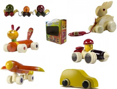 CeeJay Set of 6 Colorful Wooden Baby Toys:Model OW-OW018
