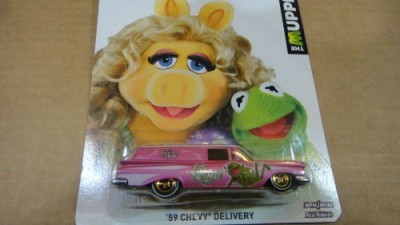 Mattel Hot Wheels The Muppets 1959 Chevy Delivery Kermit The Frog