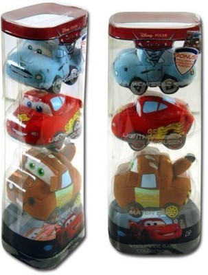 Disney Pixar Cars 2 Movie Worldwide Race Collection Plush 3Pack