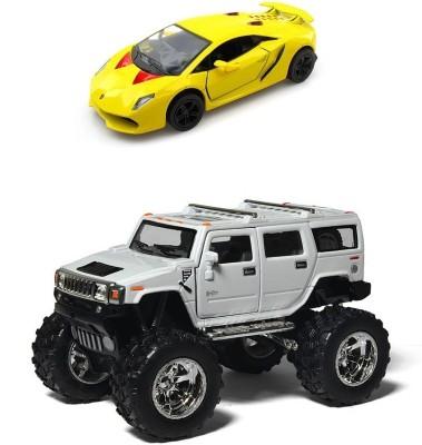 Kinsmart Monster Hummer and Lamborghini Sesto