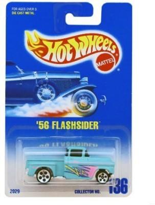 Hot Wheels 56 Flashsider #136 1991 Silver 5 Dot Wheels