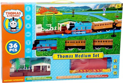Tabu Thomas And His Friends Medium Train Set(36 Pcs)