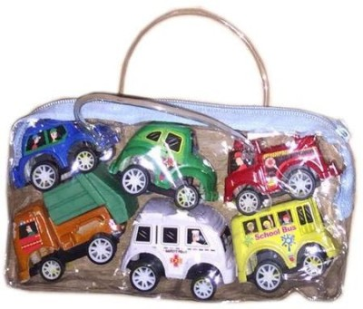 Rahul Toys 6 pcs bag car to play
