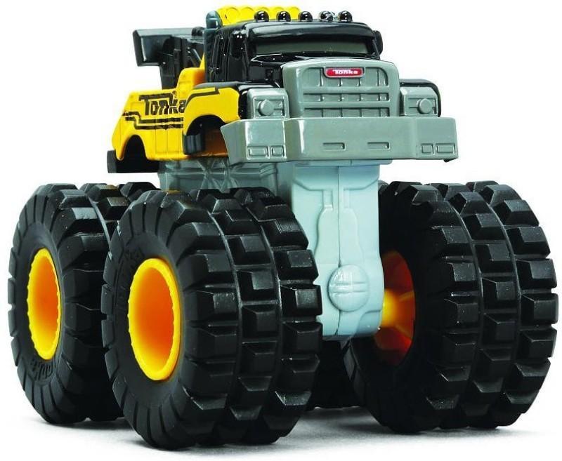 Funrise Wreckage Rescuer - Tonka Die Cast Metal Monster Truck Towtruck Wrecker(Multicolor)