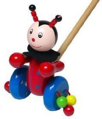 Orange Tree Ladybird Push Along Toy
