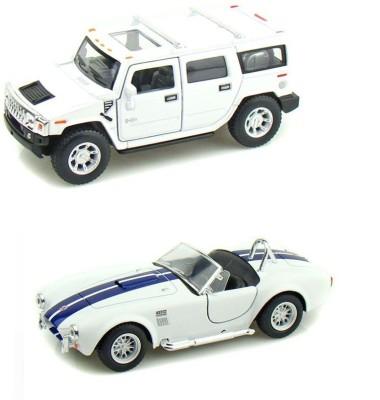 i-gadgets Kinsmart Hummer H2 and Shelby Cobra White