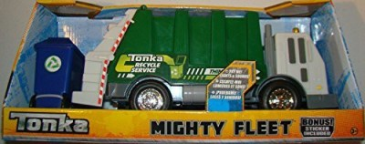 Tonka Mighty Fleet 13 Inch Recycle Garbage Truck Lights & Sounds