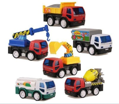 Jouet Pack of 6 Friction Toy Trucks