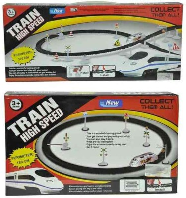 Turban Toys Combo Of High Speed Train With Flyover And Round Track