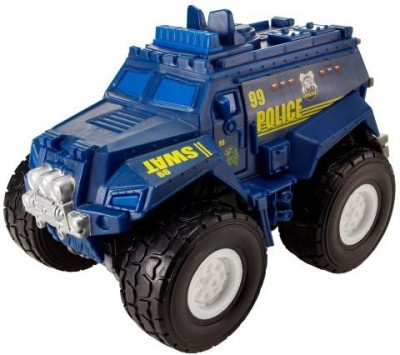 Matchbox Rev Rigs Blue Police Truck(Blue)