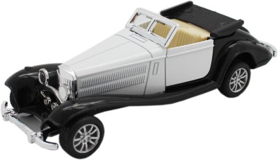 Tootpado Vintage Metal Open Top Toy Car With Pull Back Mechanism - Playing For Kids