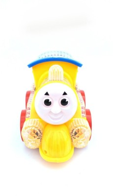 Wishkey Colourful Flashing Lights Bump and Go Loco Battery Operated(Multicolor)