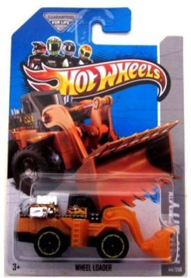 Hot Wheels 2013 Hw City Wheel Loader (Black & Orange)