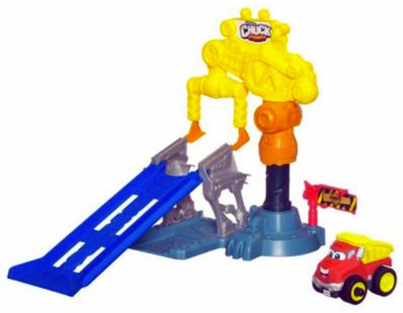 Funskool Tonka Chuck and Friends Crazy Crane Stunt Game(Multicolor)