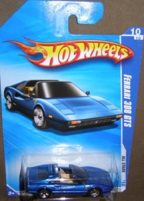Hot Wheels 2010 All Stars 128/240 Blue Ferrari 308 Gts 10/10