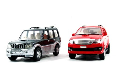 Toyzstation Scorpio & Fortuner Miniature SUV(Black, Red)