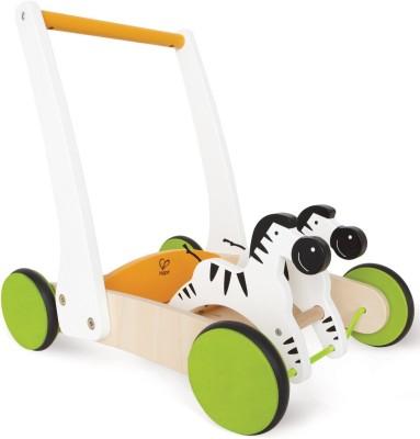 HAPE Wooden Galloping Zebra Cart