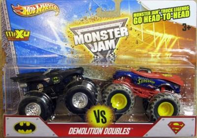 Hot Wheels Monster Jam Demolition Doubles - Batman VS Superman