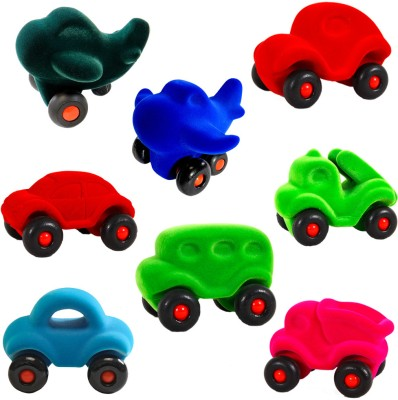 Rubbabu Little Vehicles Assortment Display of 8