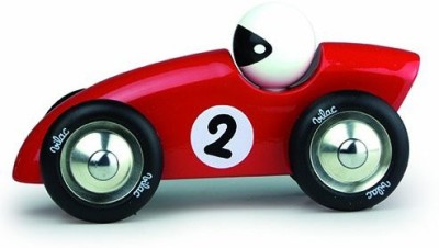 Vilac Competition Car Push and Pull Baby Toy, Red, Large