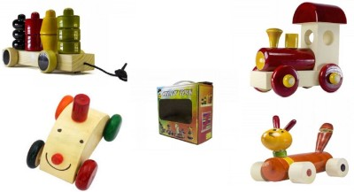 CeeJay Set of 4 Colorful Wooden Baby Toys:Model OW-OW011