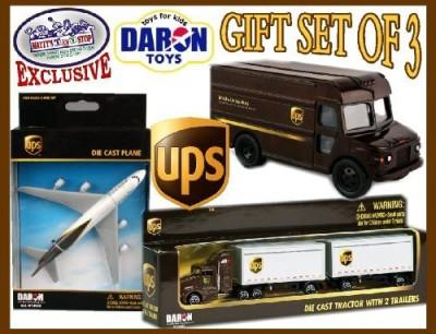 Daron Ups (United Parcel Service) Trucks & Plane Deluxe Gift Set