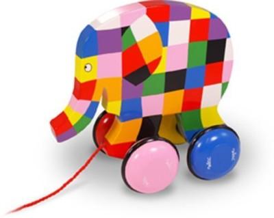 Elmer The Elephant Vilac Elmer Pull Toy