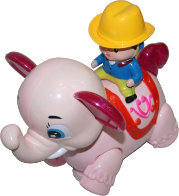 Adraxx Little Ambling and Moving Elephant Toy with a Rodeo