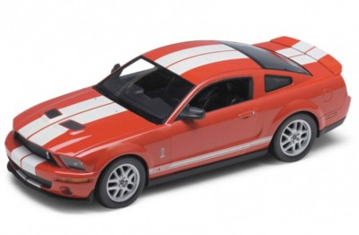 Welly 2007 Shelby Cobra Gt500 1:24 Die-Cast Model - Red
