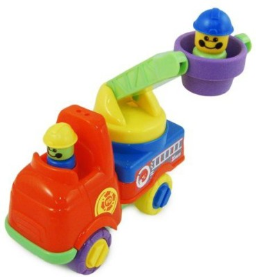Funtime Push Along Fire Engine W/ Turning Ladder & Firefighters
